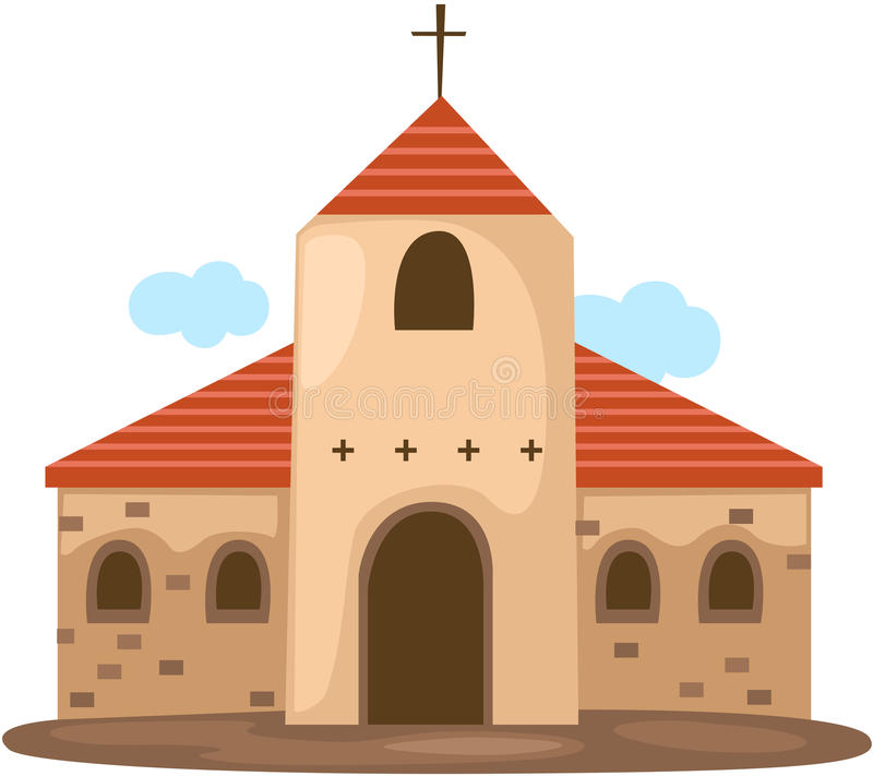 Christian church royalty free illustration