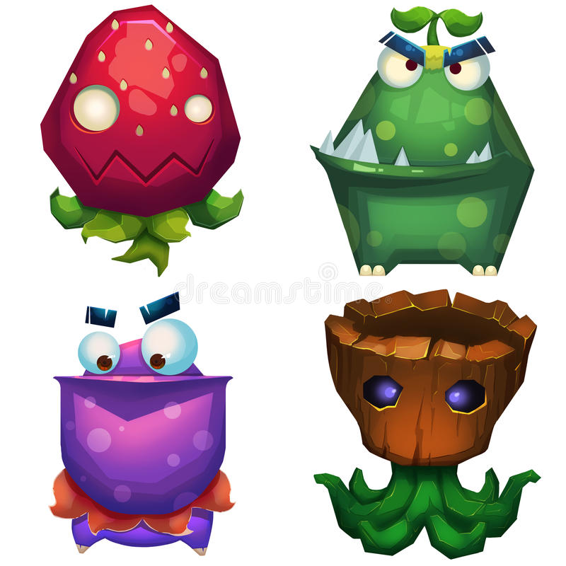 Free Illustration ISolated: Forest Monsters Set 1. Stock Photos - 63093663