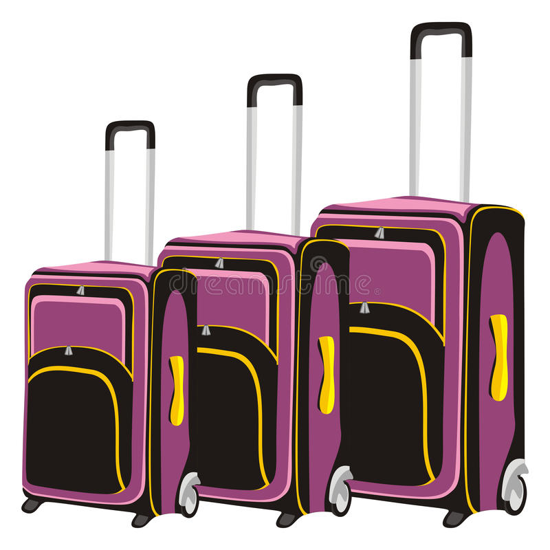 Download Illustration Of Isolated Luggage Stock Vector - Illustration of isolated, pair: 15324711