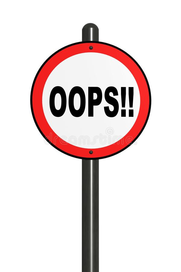 Download Illustration Of Isolated Oops! Road Sign. Stock Illustration - Image: 31910887