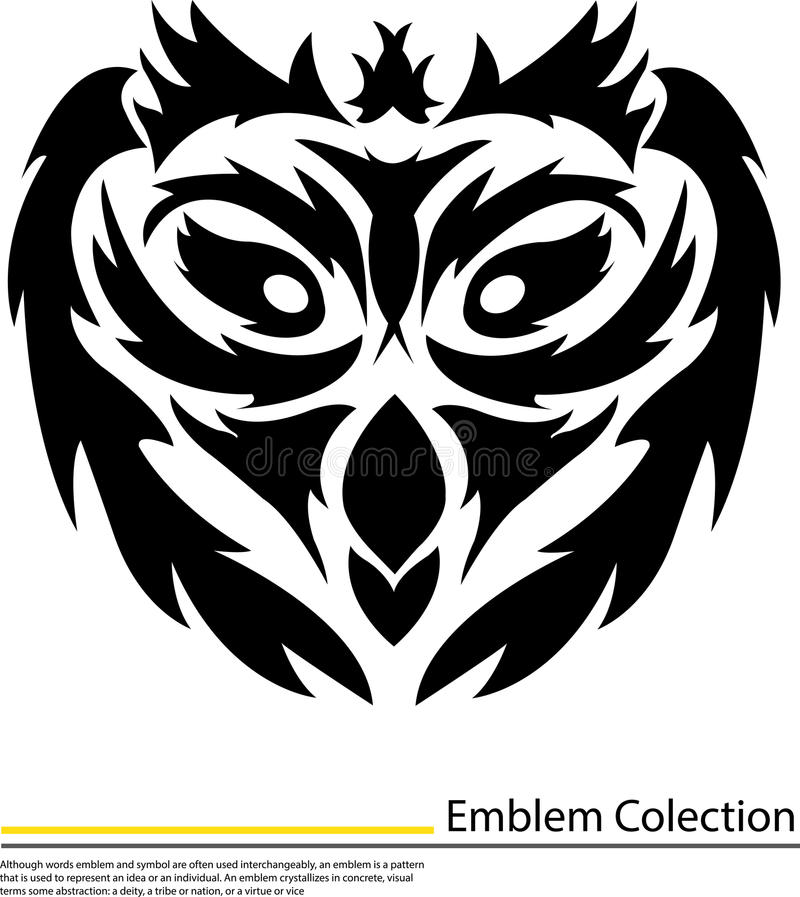 Download Illustration Of An Isolated Tattoo Face Owl Stock Illustration - Illustration: 31974182