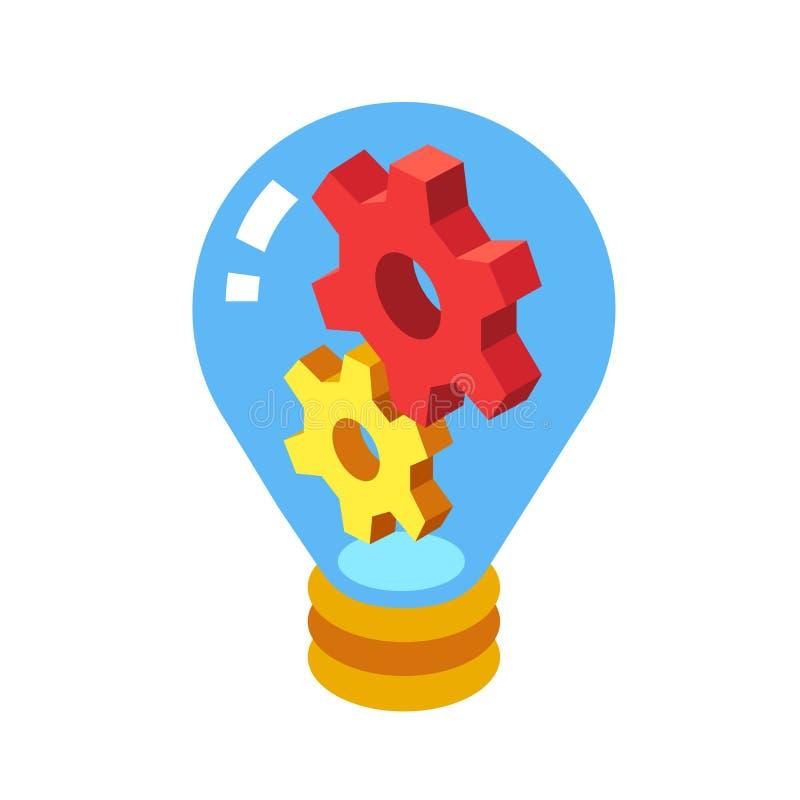 Illustration isométrique d'idée innovatrice illustration libre de droits