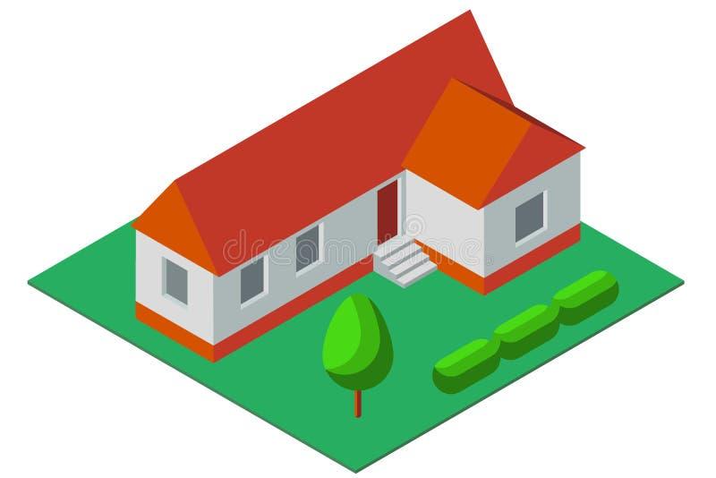 Illustration isométrique de maison privée simple illustration libre de droits