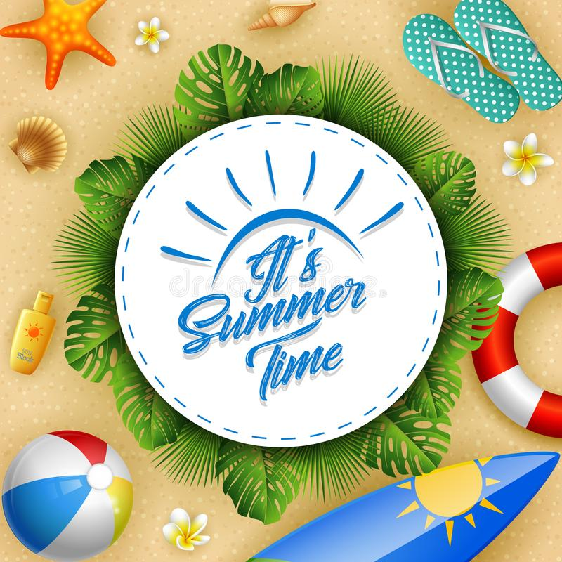 Its summer time. Illustration of Its summer time stock illustration