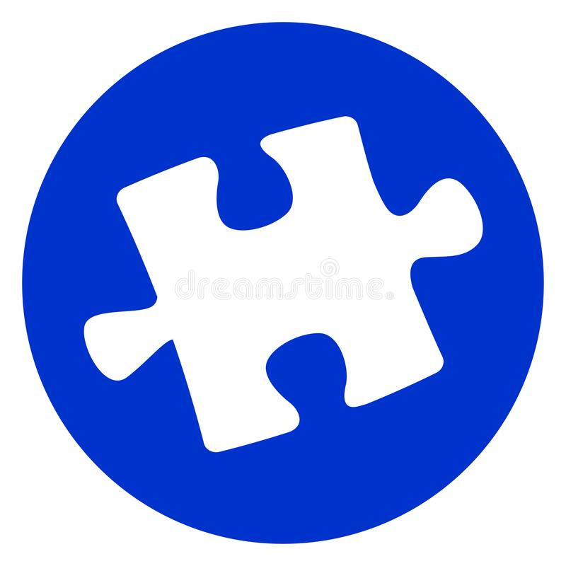 Jigsaw puzzle piece icon stock illustration