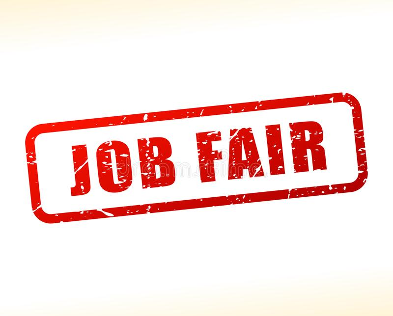 Job fair text buffered vector illustration
