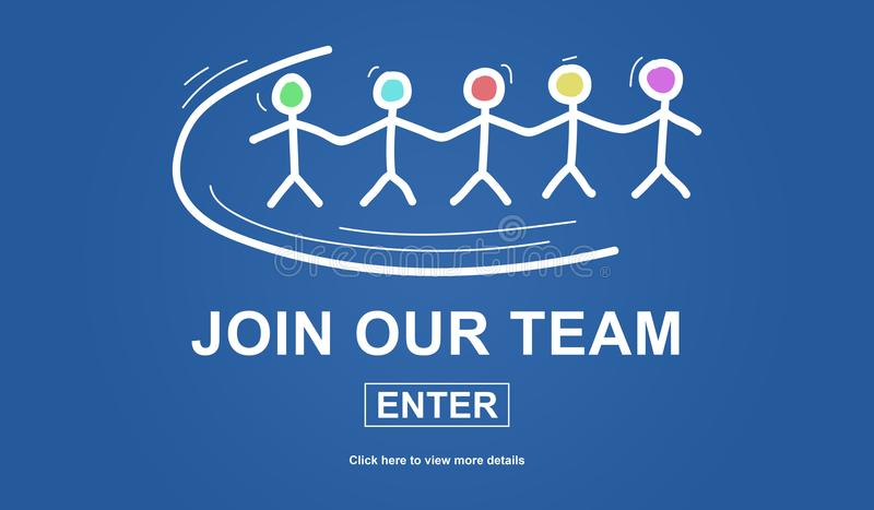 Concept of join our team stock illustration