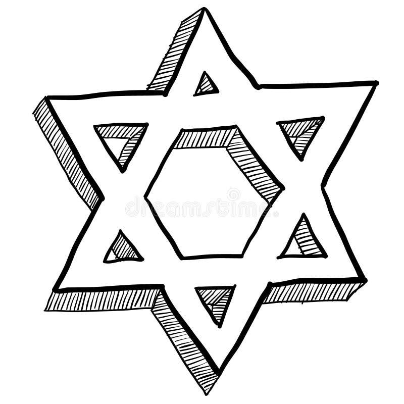 Illustration juive d'étoile de David illustration stock
