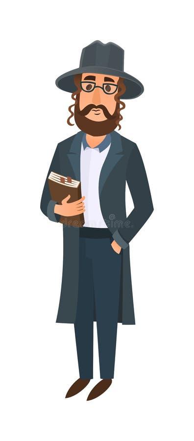 Illustration juive d'homme illustration stock