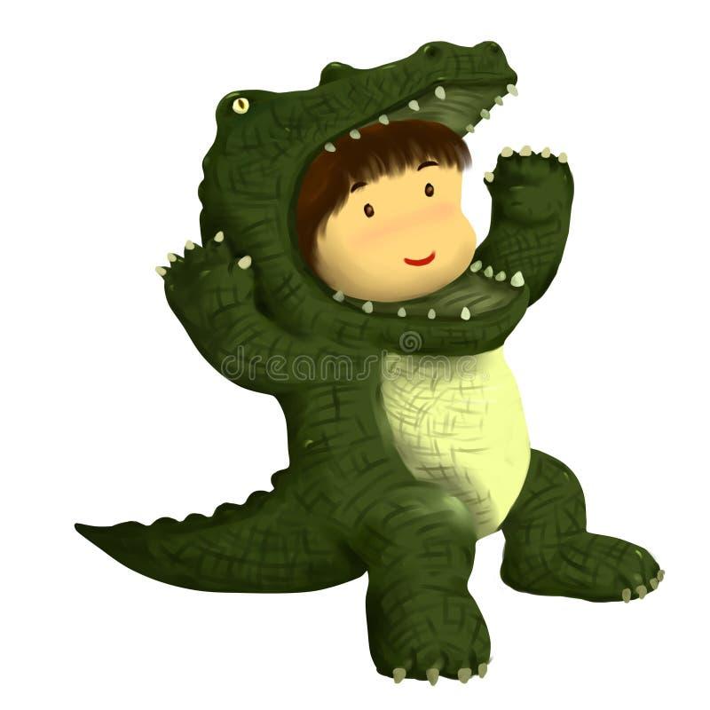 Croc kid stock illustration