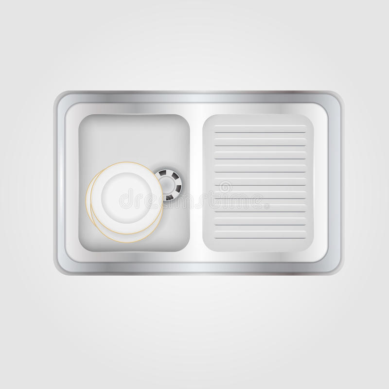 Illustration Of Kitchen Sink Stock Vector