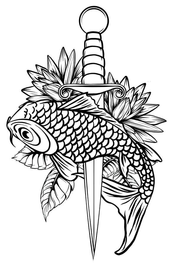 Koi Fish Drawing Stock Illustrations 4 057 Koi Fish Drawing Stock Illustrations Vectors Clipart Dreamstime
