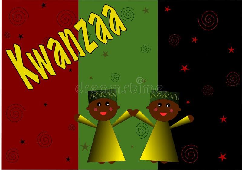 illustration kwanzaa d'enfant illustration stock