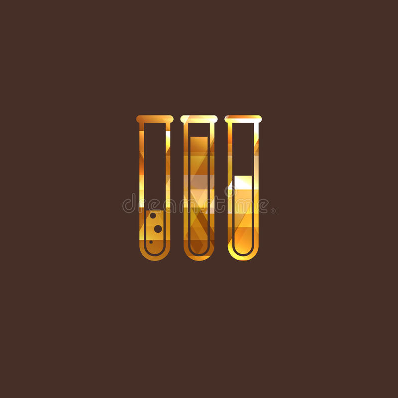 Illustration With Laboratory Equipment Sign Royalty Free Stock Photos