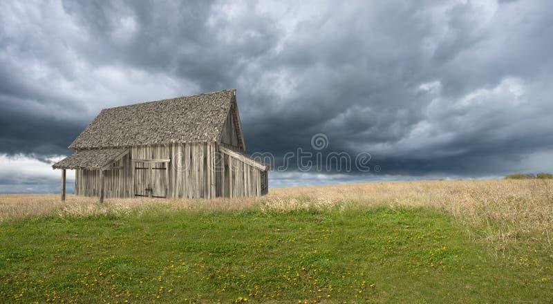 Illustration ladugård, lantgård, land som är lantligt royaltyfri bild