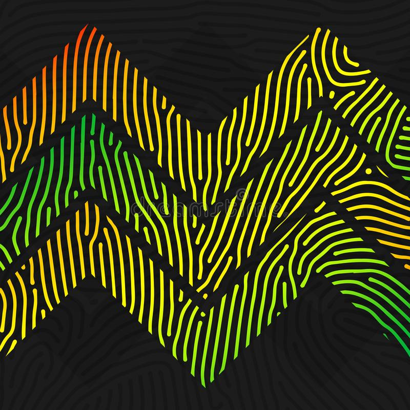 Colorful chevron lined pattern royalty free stock photography