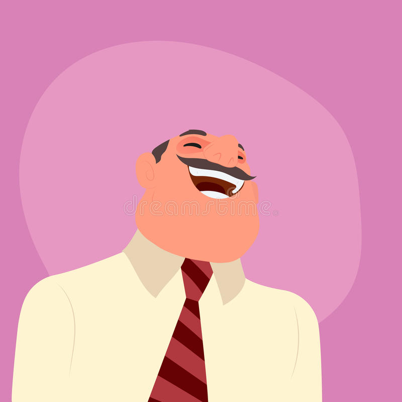 Illustration of a laughing businessman stock illustration