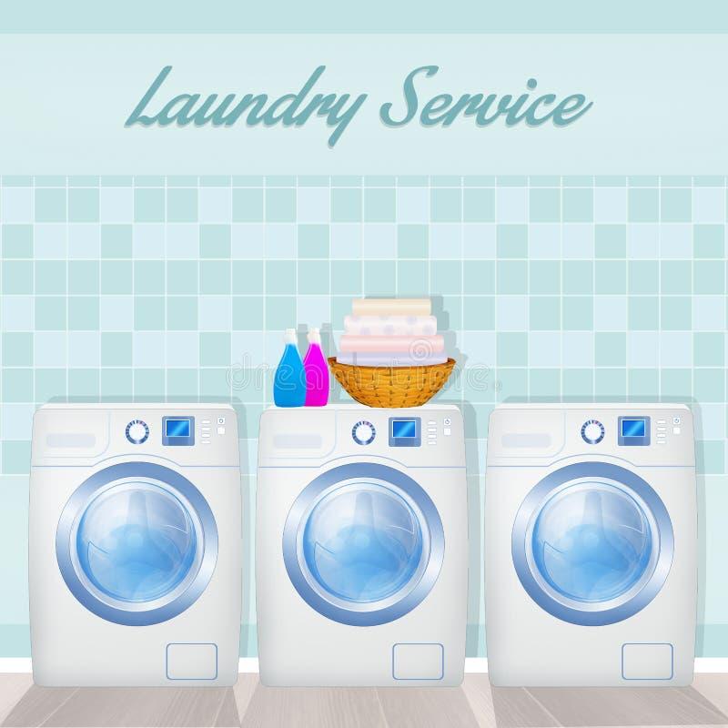 Illustration of laundry service. H 24 vector illustration