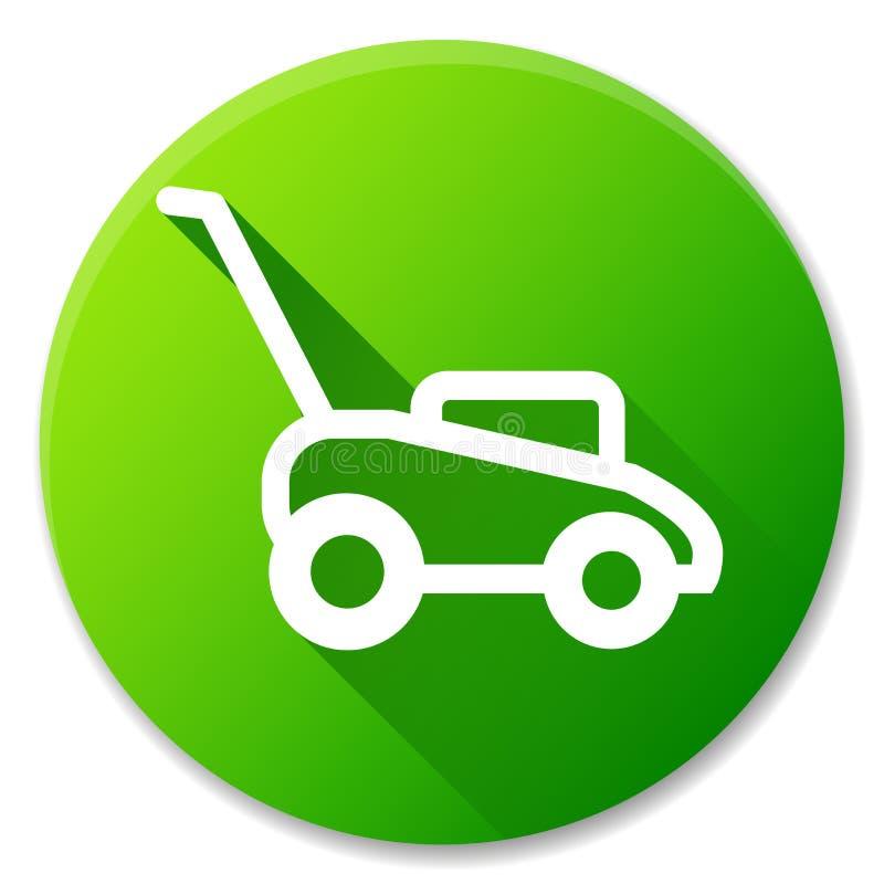 Lawn mower circle icon design. Illustration of lawn mower circle icon design vector illustration