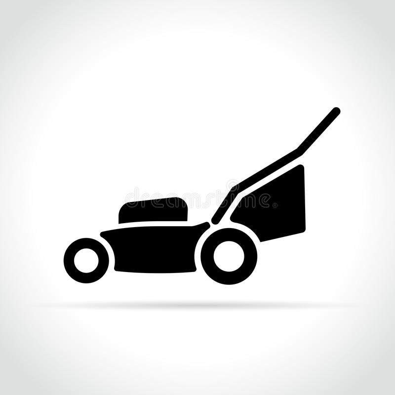 Lawn mower icon on white background royalty free illustration
