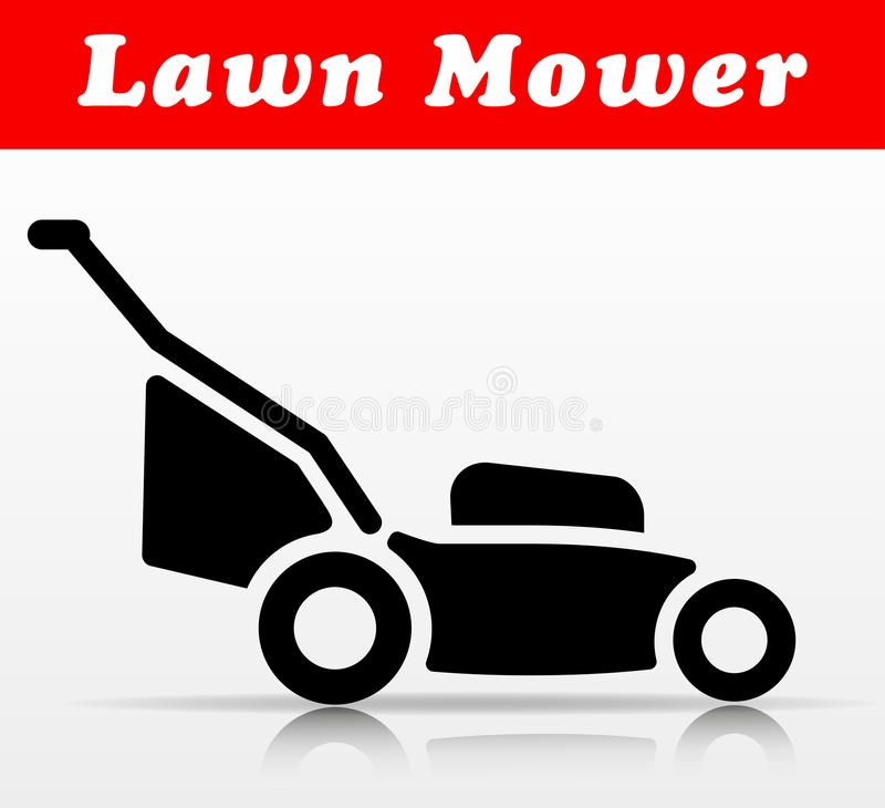 Lawn mower vector icon design. Illustration of lawn mower vector icon design vector illustration