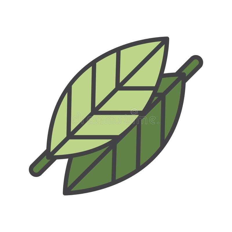Illustration of leaves environmental concept stock illustration
