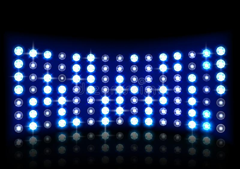Led projection screen vector illustration