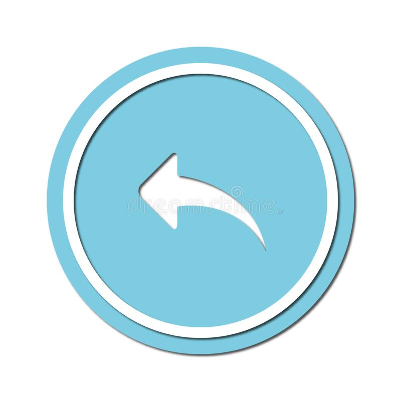 Arrow to turn left Icon symbol or button, paper cut style. Illustration of the left arrow direction with a paper cut design style vector illustration