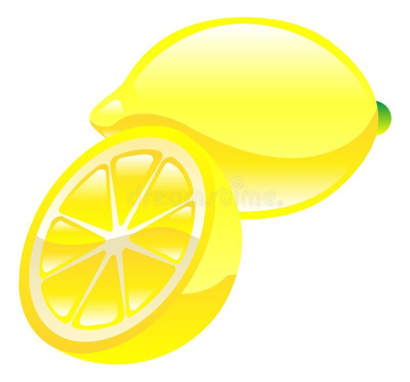Illustration of lemon fruit icon clipart. An illustration of lemon fruit icon clipart royalty free illustration
