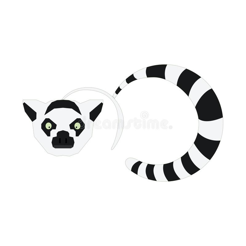 Illustration Lemur animal logos for software logos, applications, technology stores and sports stock images