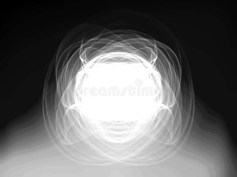 Illustration of len flares on dark blurred background royalty free stock photo