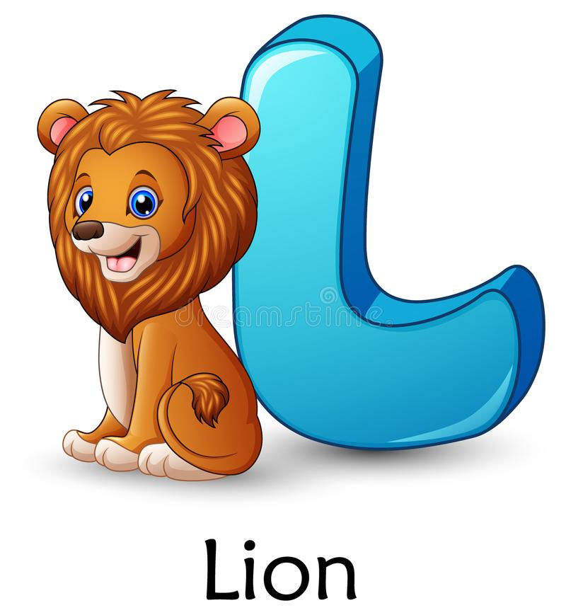 Download Letter L Is For Lion Cartoon Alphabet Stock Vector
