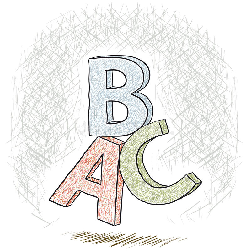 Download Letters ABC stock vector. Image of teaching, typography - 30002758