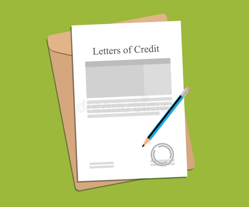 Illustration For Letters Of Credit Agreement Stamped And Completed