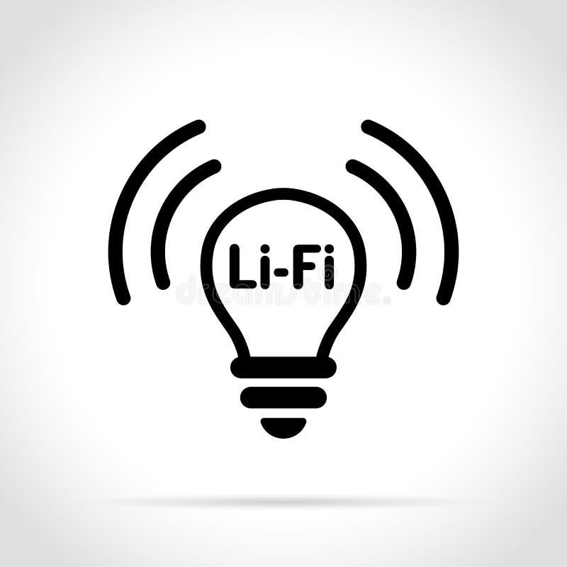Li fi icon on white background vector illustration
