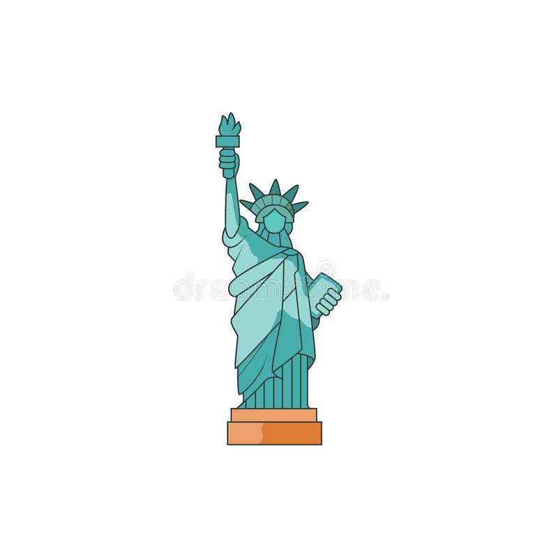 Design of liberty statue for freedom royalty free illustration