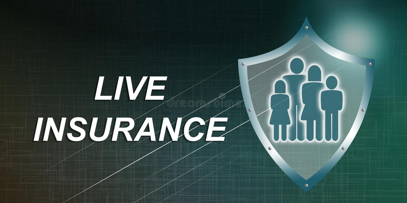 Concept of life insurance stock illustration
