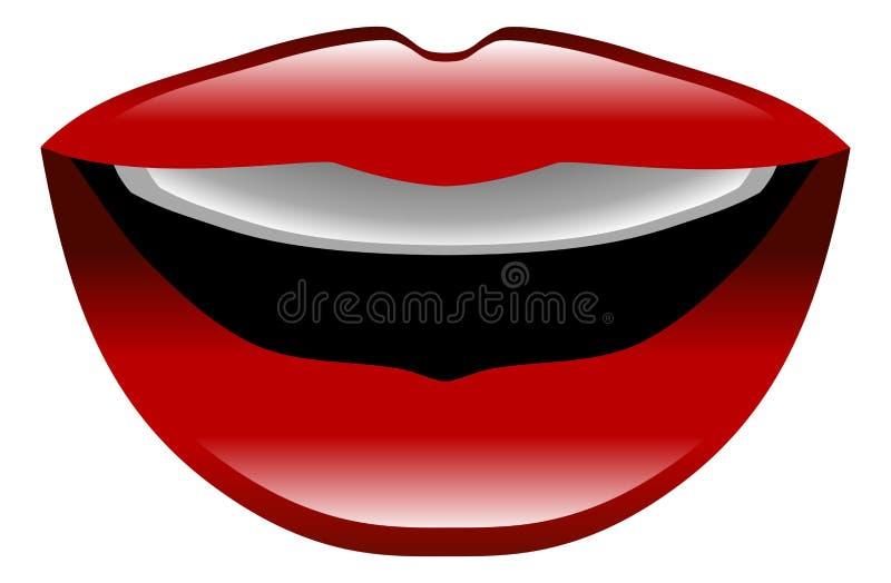 Illustration of lips talking icon clipart. An illustration of lips talking icon clipart royalty free illustration