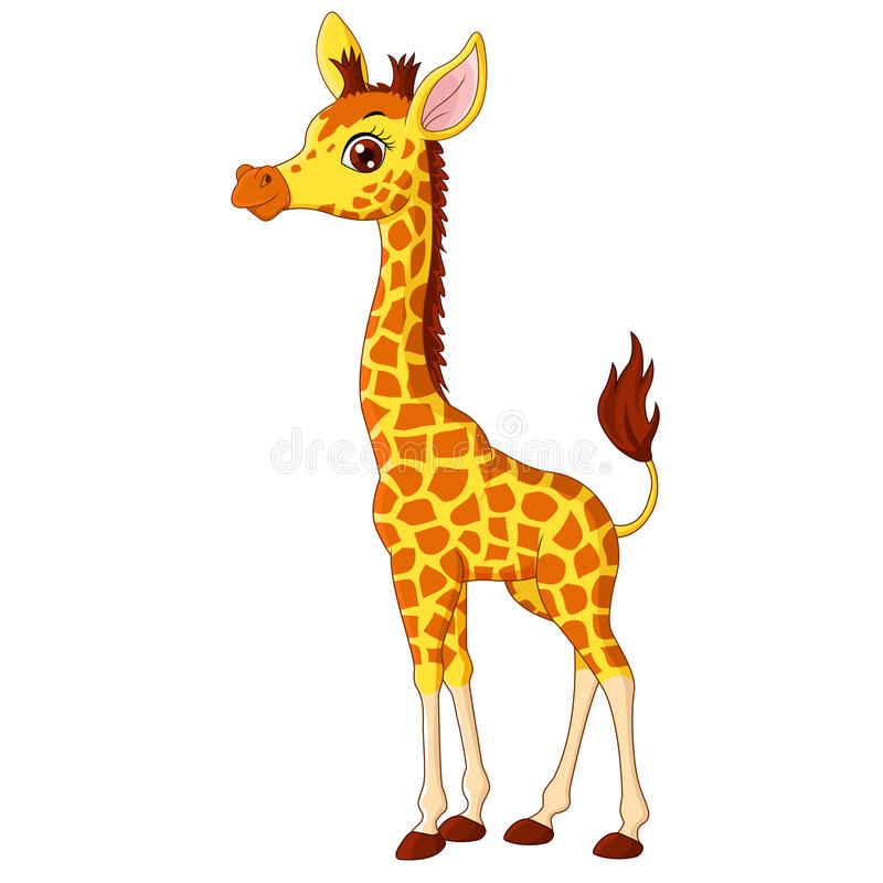 Illustration of little giraffe calf royalty free illustration