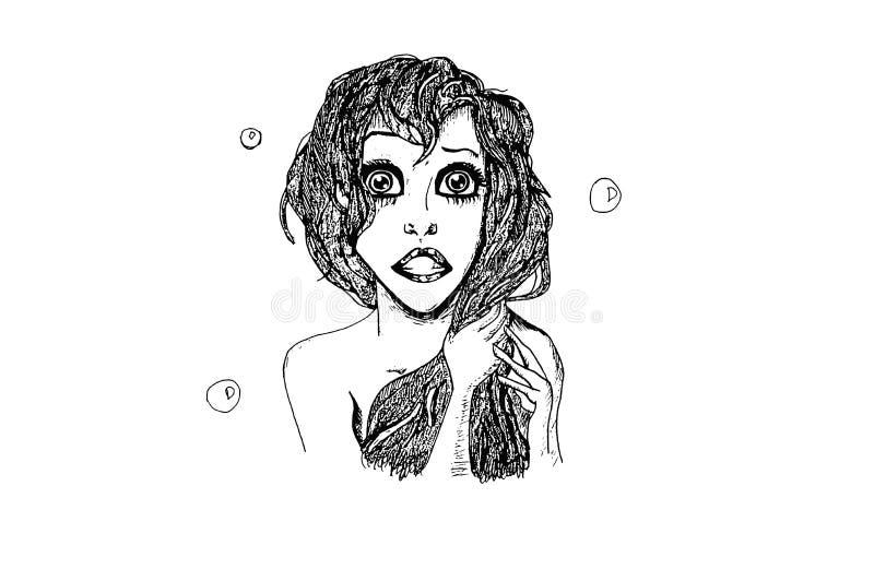 Illustration `Little Mermaid`. royalty free illustration