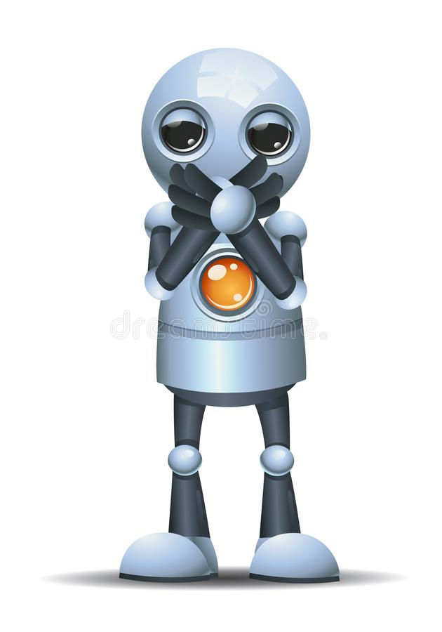 little robot close it mouth vector illustration
