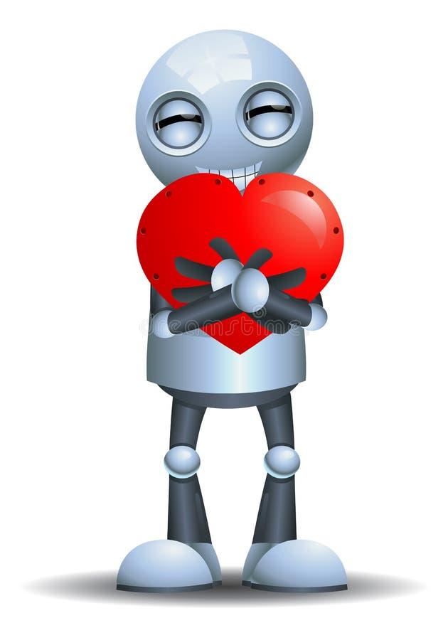 Little robot emotion in infatuated stock illustration