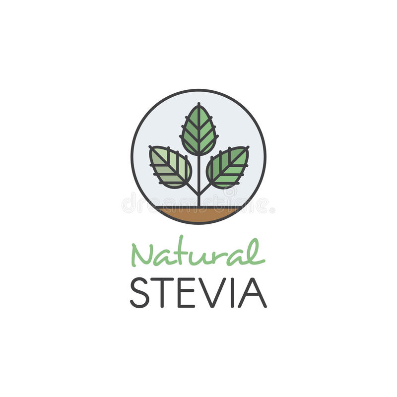 Illustration Logo Set Label Badge de style d'icône et élément de conception pour empaqueter avec l'icône de Main-lettrage, chambr illustration libre de droits
