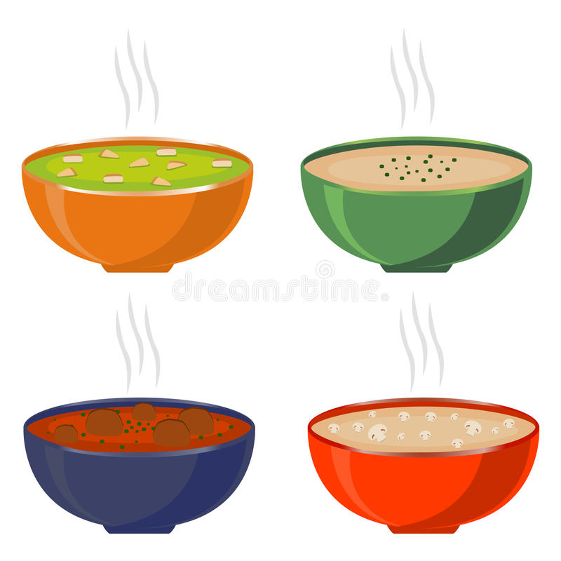 Illustration of logo for the theme homemade soups vector illustration
