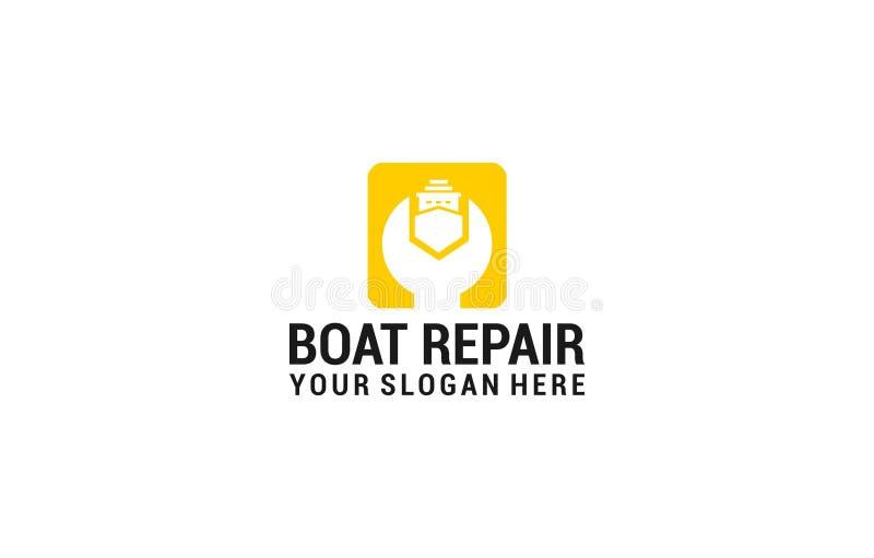 Boat repair logo royalty free illustration