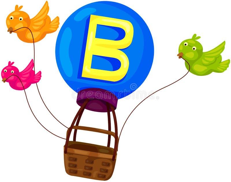 Alphabet B für Vogel lizenzfreie abbildung
