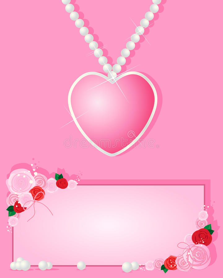 Download Love necklace stock vector. Image of romance, valentine - 30120486