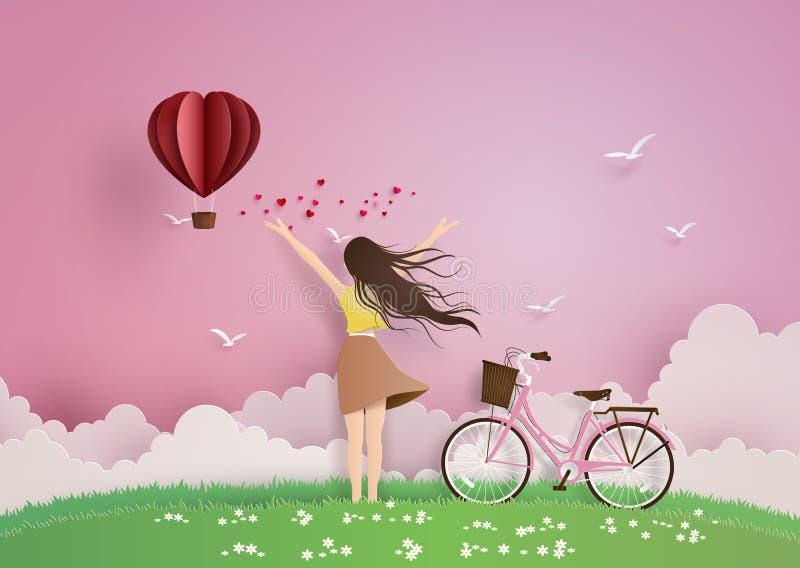 Illustration of love and valentine day stock illustration