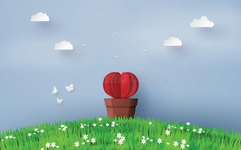 Illustration of love and valentine day royalty free illustration