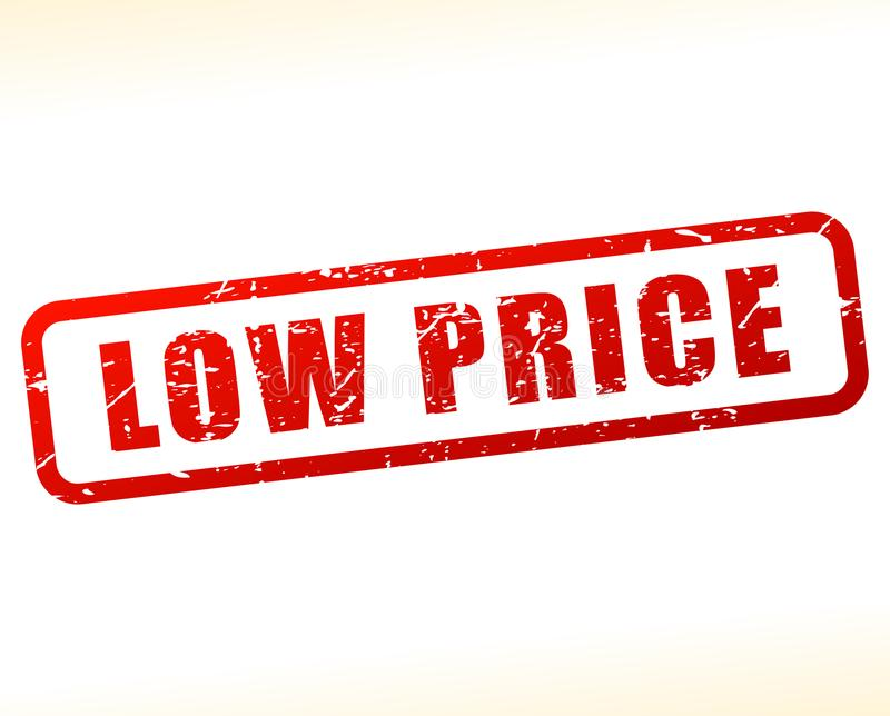 Low price red stamp on white background royalty free illustration